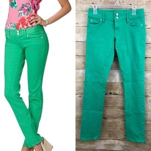Lilly Pulitzer Worth Green Straight Jean